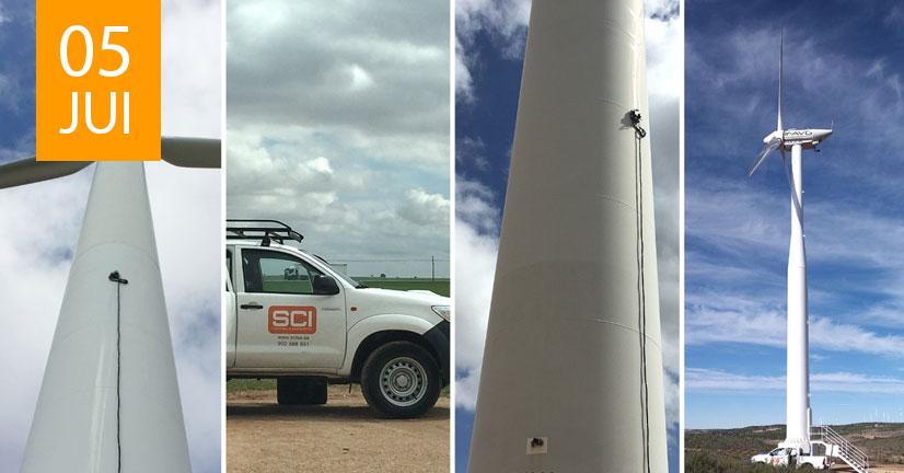 contrôle par ultrasons de tours éoliennes